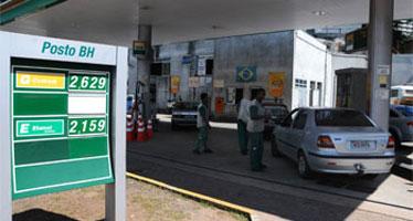 Gasolina comum pode ser encontrada de R$ 2,579 a R$ 2,999 nos postos da capital (EM/D.A/Press)